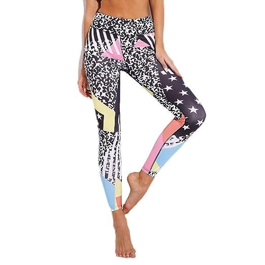 3db785e3508ce 2019 New Women's Star Print Leggings High Waist Yoga Pants Tummy Control  Workout Pants by E