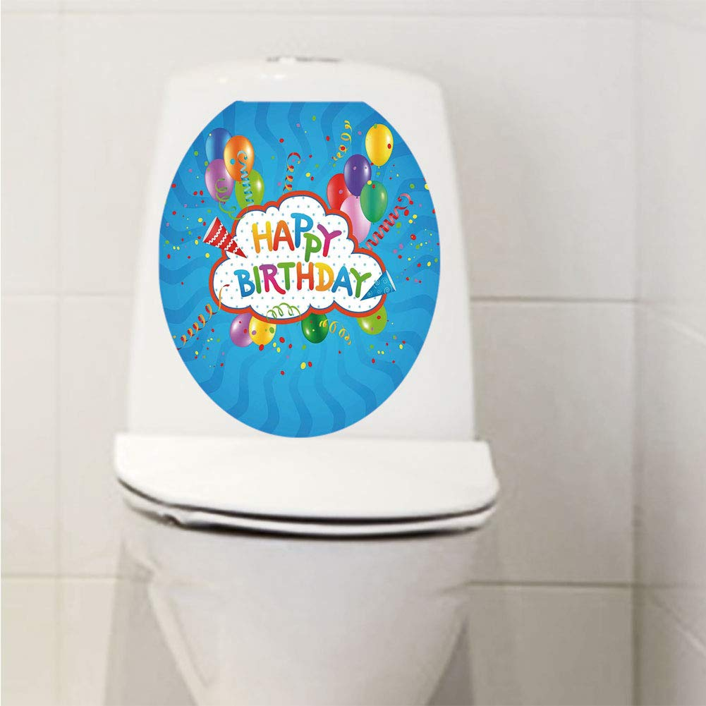 Superb Amazon Com Toilet Sticker 3D Print Design Birthday Short Links Chair Design For Home Short Linksinfo