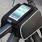 Andoer Roswheel bicyclette sacoche de vélo sur Top Tube Cadre Pannier Double Sac pour 5 po portable 1.8L 12813