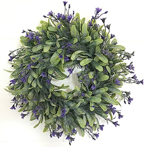 Etbotu Artificial Wreath Flowers,Door Hanging Wall Window Decoration Wedding Party Christmas Decor 11.8'' Diameter