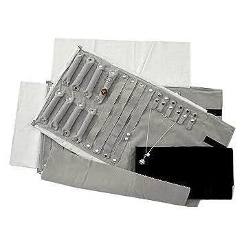 Amazoncom UnionPlus Large Velet Travel Jewelry Case Roll Bag