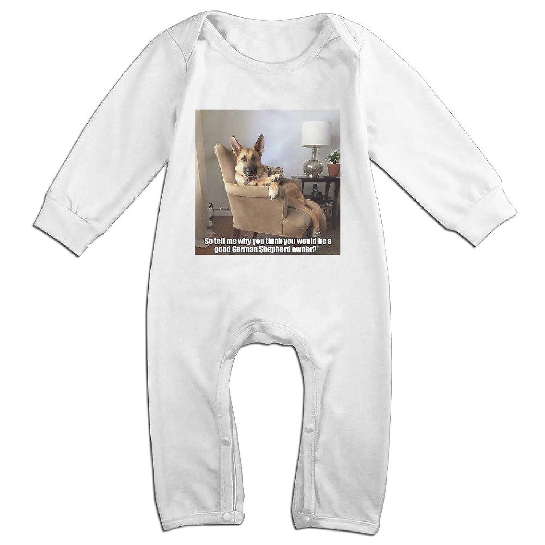 Amazon Funny German Shepherd Meme Long Sleeve Baby esies Boys