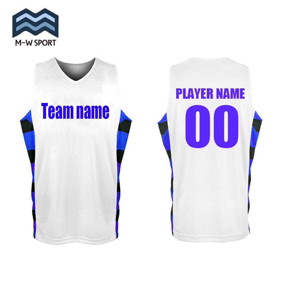 5ae4d7080 M-W Sports Custom Basketball Jerseys Design Your Own Name and Number (Blue,  XXXL)