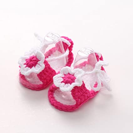 Amazoncom Hemlock Baby Girls Crochet Shoes Handmade Soft Knit