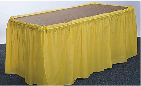 Skirting Table Trim Self Adhesive Airlaid 4m x 72cm White Buffet Catering
