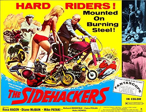 Posterazzi Five The Hard Way (Aka The Sidehackers) Ross Hagen (On Motorcycle Right) 1969 Movie Masterprint Poster Print (14 x 11)