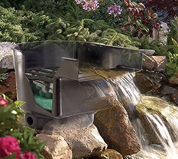 Cascada para estanque, incluyendo el sistema de filtrado, ruta para el arroyo, filtro para el estanque; anchura:43 cm.: Amazon.es: Jardín