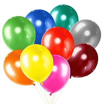 cxvwons 100 unidades, globos boda Globo Aerostático Party látex globos metálico Multicolor Globos de colores Globos juguete para niños Cumpleaños Boda ...