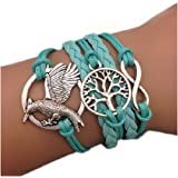 Hunger Games Bracelet infinite tree of life blue karma