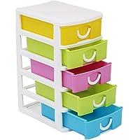 com-four® Cajón con Cinco Cajones para Accesorios de Bricolaje - Útil Organizador de Oficina con Cajones - Cajones de…