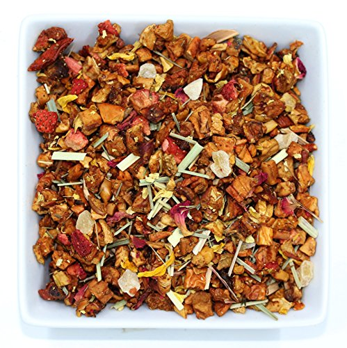 Tealyra - Aloha Sweet Guava - Lemongrass - Strawberry - Fruity Loose Leaf Tea - Vitamines Rich - Hot and Iced Tea - Caffeine Free - All Natural - 112g (4-ounce) - Sweetheart Rose Cup