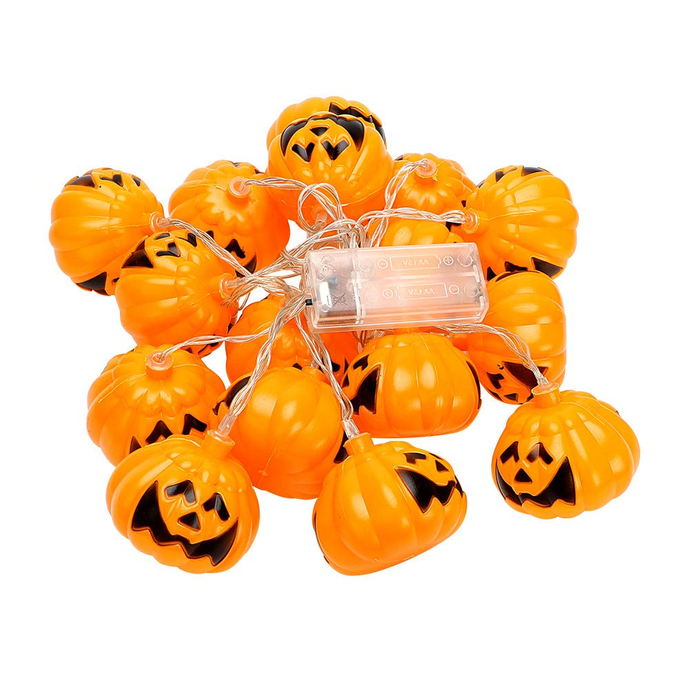 Halloween LED String Lights, YiMiky Battery Operated Pumpkin String Lights with 16 LED for Halloween Parties Home Party Festival Decoration Fairy Starry Lights Warm White