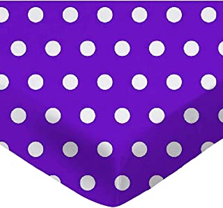 product image for SheetWorld Fitted Pack N Play (Graco) Sheet - Polka Dots Purple - Made In USA