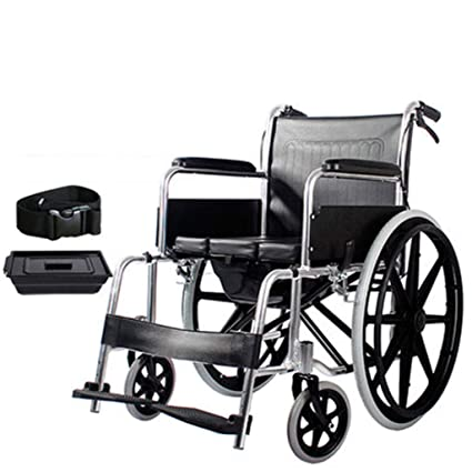 Silla de ruedas Función De Inodoro, Extraíble, Portátil, Apoyabrazos, Aluminio, Tres