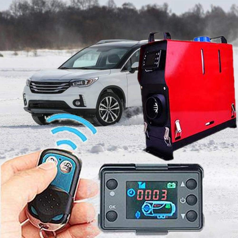 L/à Vestmon Chauffage De Voiture 12V//24V Rapide Ventilateur de D/égivrage Diesel Chauffage de Voiture LCD Moniteur Commutateur Chauffage Contr/ôleur Parking pour Voiture Piste Air Diesel
