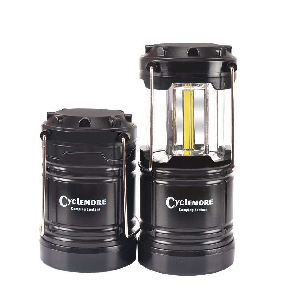 Portable Outdoor COB Camping Lantern LED Flashlight Water Resistant Collapsible Tent Light with Magnetic Base&Hook for Hiking,Emergencies,Hurricanes,Outages,Fishing(Batteries Not Included)(3 pack)