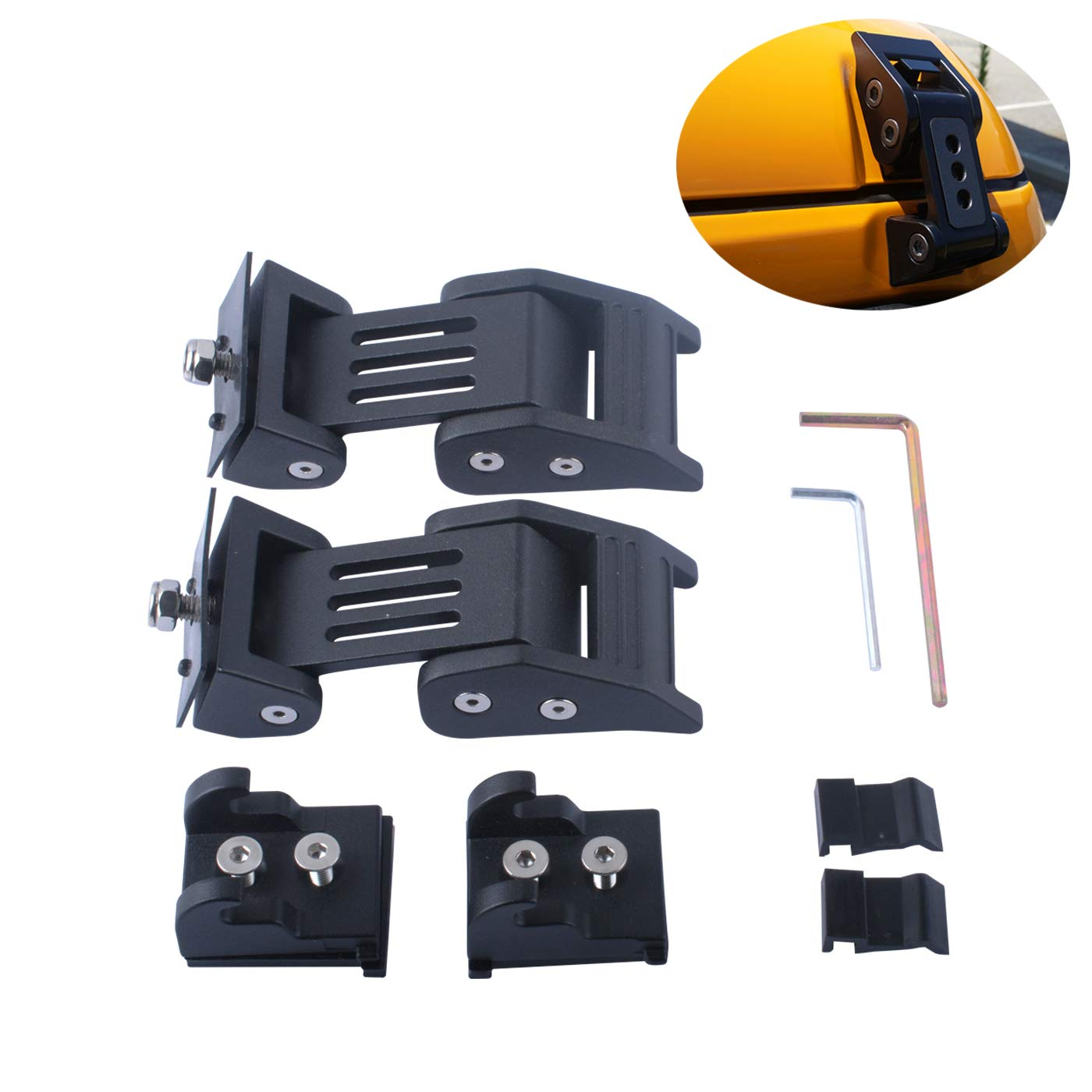 Hood Latches Lock Catch Kits for 2007-2016 Jeep Wrangler JK /& Unlimited JKU Heavy Duty Latch Locking Hood Catch Replacement