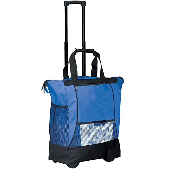 c580fe70d5 Preferred Nation 1168.Blue On the go Rolling Tote - Blue  Amazon.in   Clothing   Accessories