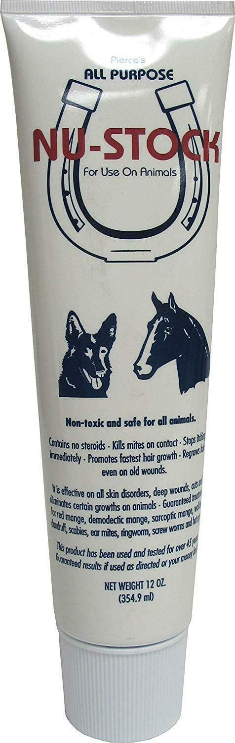 Nu-Stock Ointment All Purpose Wound Care for Animals 12oz by Nu-Stock