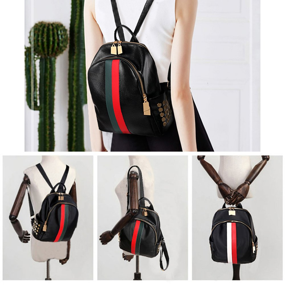 Mynos Backpack Bag Women Mini Rucksack Travel Bookbag For Girls Backpack Leather Bag Ladies Purse And Handbags by Mynos (Image #6)