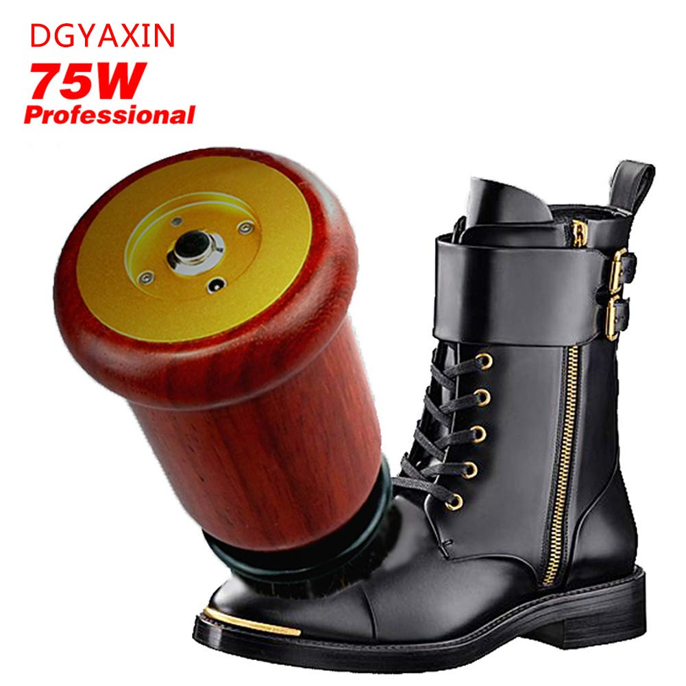 DGYAXIN Electric Shoe Brush, Portable Redwood Electric Shoe Polisher, Multi-Purpose Handheld Shoes Polisher, for Sofa Leather Bag Leather Shoes Car Seats Leather Products,Red
