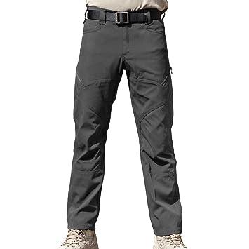 1dd381b1a36557 Arbeit Cargo Hose – Herren Tactical Outdoor Leicht Wasserabweisend Elastische  Taille Multi Taschen Combat Pants (