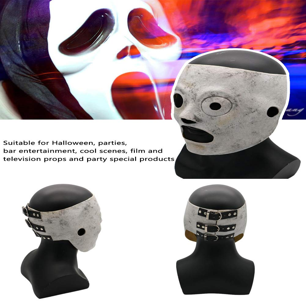 Maschera Regolabile in Lattice per Halloween,Travestimento Merchandise per Adulti Accessorio Costume Maschera Halloween Slipknot Mask Cosplay Corey Taylor