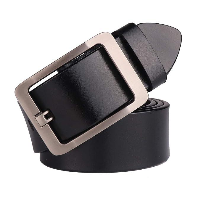 "Rihachan MEN/'S Belt Leather Reversible Belt for Men 1.4/"" Wide Black Brown 37-38/"""