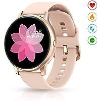 EIVOTOR Smartwatch para Mujer, Reloj Inteligente Pulsera Deportivo Pantalla Táctil Completa con Podómetro Calorías…