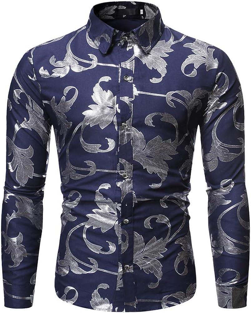 SXZG Camisa de Hombre de Otoño E Invierno Estampado En Caliente Casual Hombre Impresión de Estilo Hawaiano Camisa Europea Y Americana Camisa de Flores de Manga Larga para Hombre: Amazon.es: Ropa y