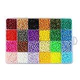 Children DIY Toys Mini Fuse Beads Size 2.6MM 18000 PCS 24 Color A