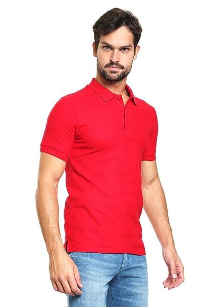 daafcf0615f1f Gildan Playera Roja Manga Corta Polo para Hombre Rojo Talla S ...