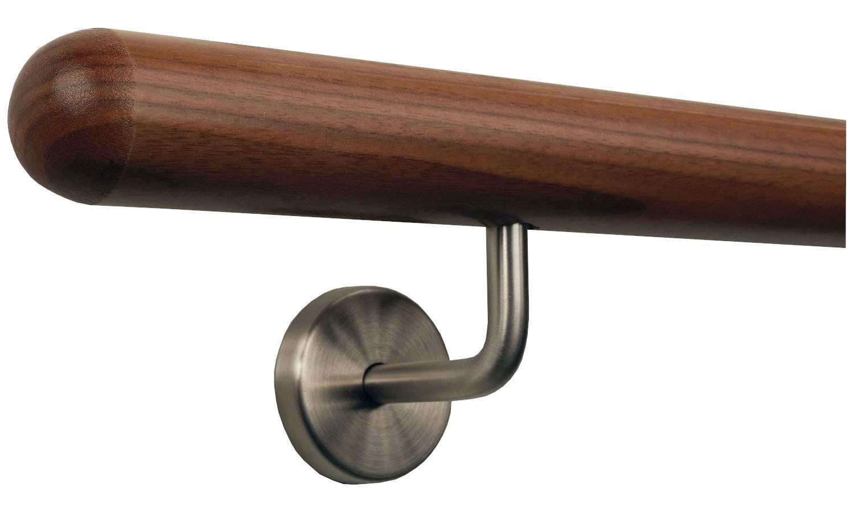 Tibu pasamanos de madera de nogal AMI hasta 5/m Ink.Acero inoxidable plana y edici/ón de Extremos