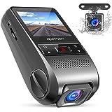 APEMAN Dash Cam Doppia Lente Telecamera per Auto 1080P Full HD Obiettivo Grandangolare di 170 Gradi con Rilevatore di Movimento G-Sensor (Nero)