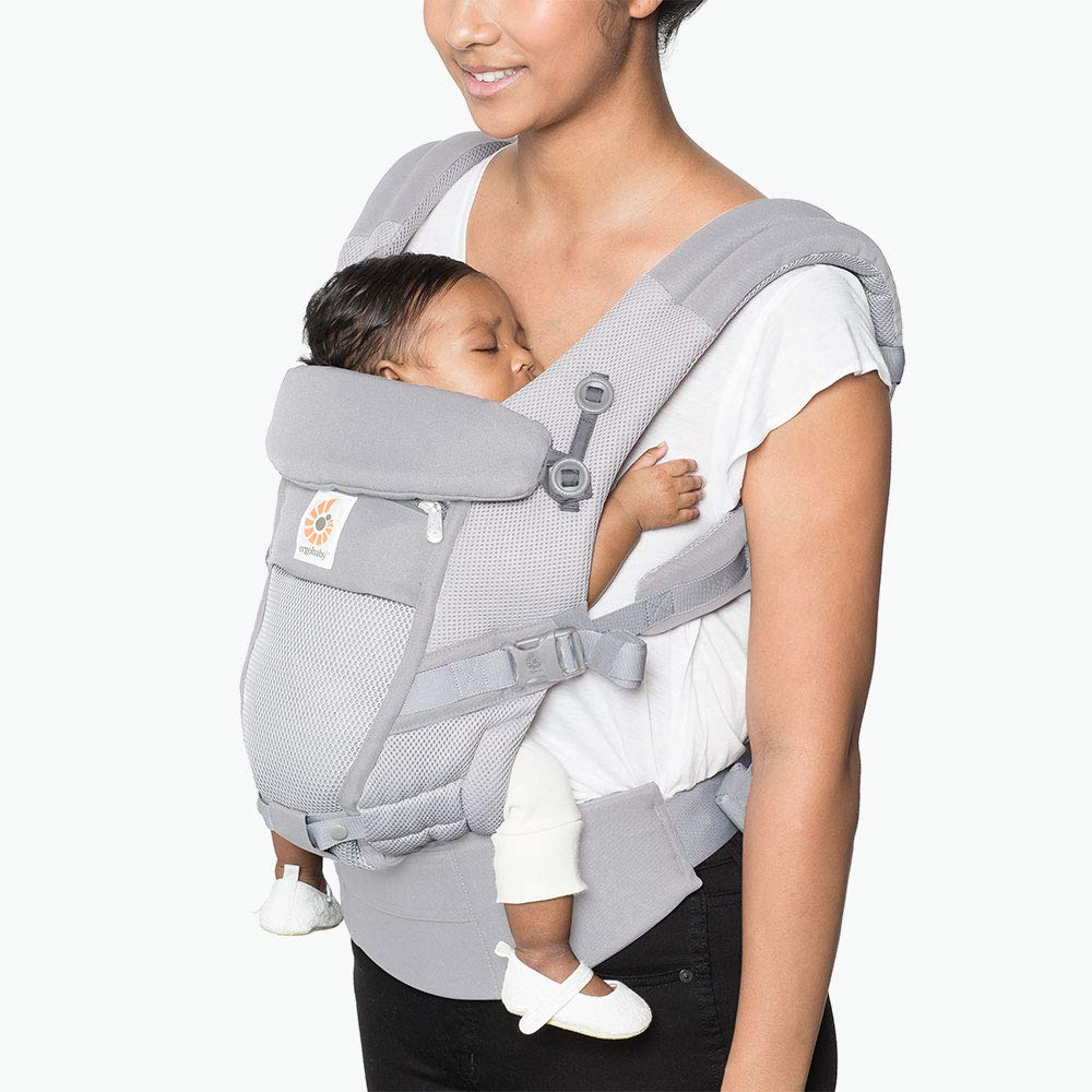 Ergobaby Adapt Baby Carrier, Infant To Toddler Carrier, Cool Air Mesh, Multi-Position, Pearl Grey