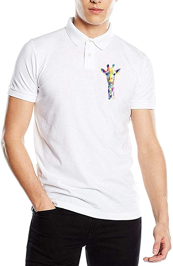 Camiseta Polo de Manga Corta con Estampado de Jirafa en Acuarela ...