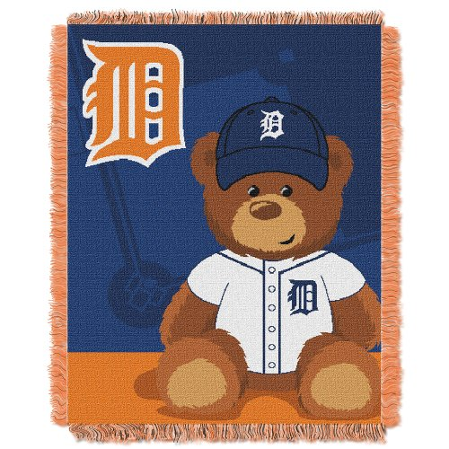 MLB Detroit Tigers Field Woven Jacquard Baby Throw Blanket, 36x46-Inch