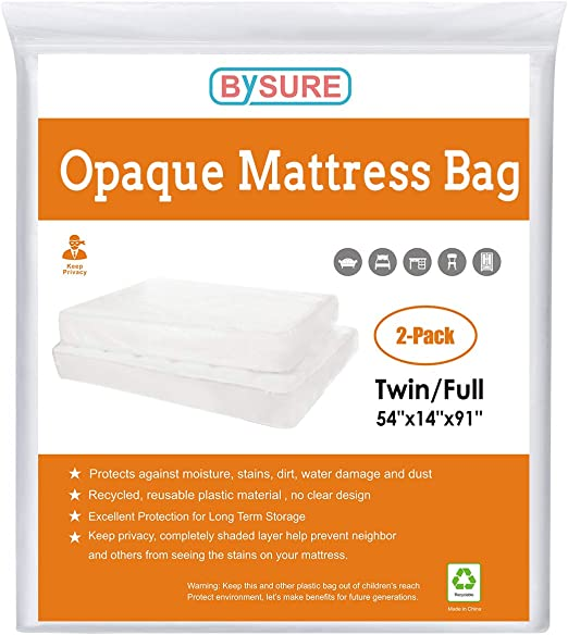 Amazon Com Bysure 2 Pack 5 Mil Extra Thick Opaque White Mattress