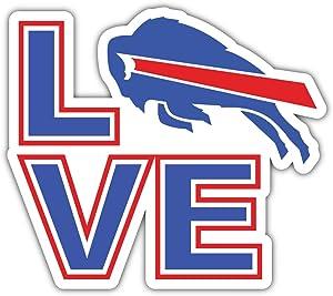 Bills Football - Buffalo Love Sport Decal 5'' X 4''