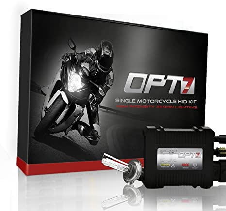 OPT7 35w HID KIT Motorcycle H7 5000K BRIGHT WHITE Light XENON Conversion