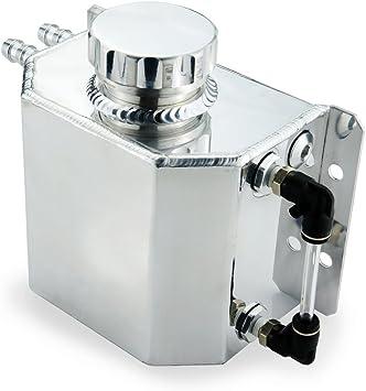 Tanque del refrigerante desbordamiento de Aluminio Universal Botella De Expansión /& Tapa Del Radiador Plata