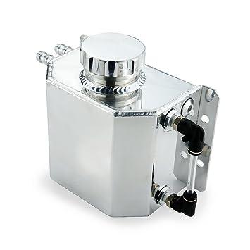 heinmo Universal Auto refrigerante del radiador Tanque de expansión aleación de aluminio 1L con Tapón de
