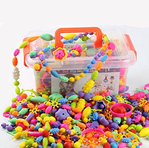 errilol 1005個Kids PopビーズセットクリエイティブジュエリースナップキットDIYネックレスリングブレスレットアート工芸ギフト教育赤ちゃんおもちゃセット