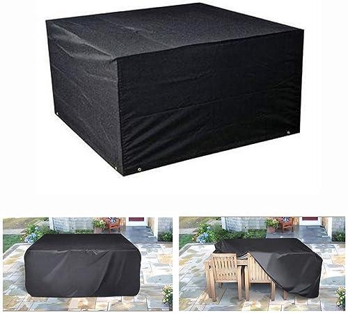 KEANCH Muebles de jardín Cubierta Impermeable y Transpirable Oxford Tela al Aire Libre de la Cubierta Protectora Resistente, a Prueba de Viento Rectangular y Anti-UV Mesa de jardín Cubiertas: Amazon.es: Hogar
