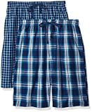 Hanes Men's 2-Pack Woven Pajama Short, Dark Blue, Large