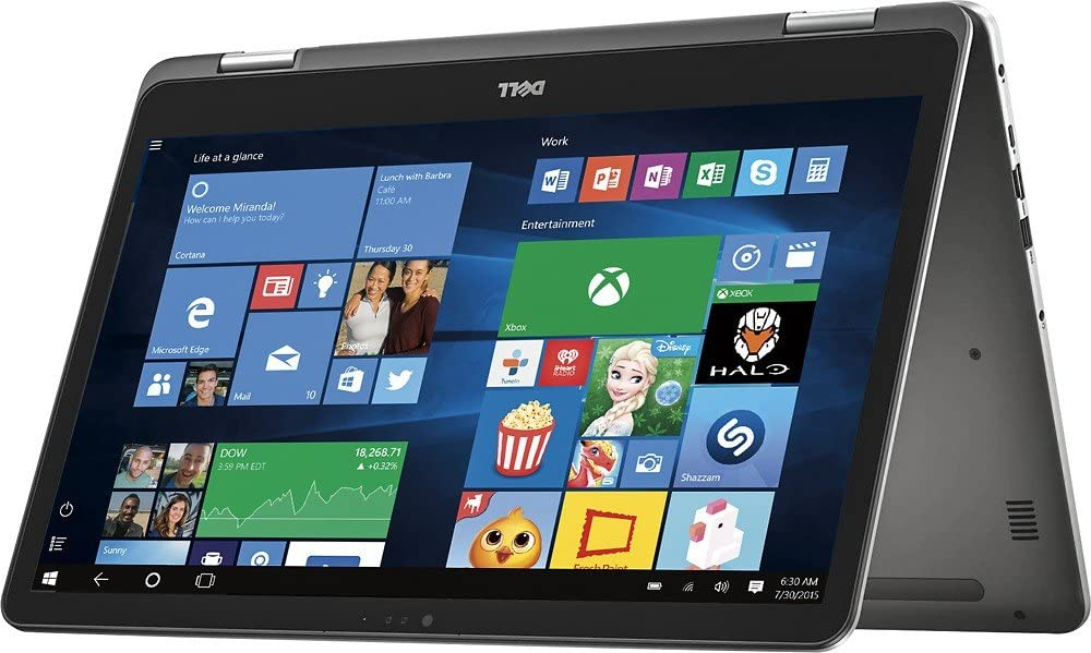 "Dell 7000 Inspiron 2-in-1 17.3"" Touch-Screen FHD IPS Laptop I7779-7045GRY-PUS, Intel Core i7-7500U, 16GB DDR4 RAM, NVIDIA GeForce 940MX 2GB, 512GB SSD, BT, HDMI, Backlit keyboard, Win10"