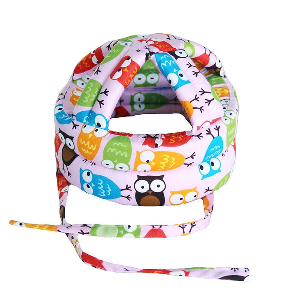 FOONEE Toddler Baby Safety Helmet Infant Safety Headguard Infant Head Protector Adjustable Printed Head Guard Head Protector Cute Owl