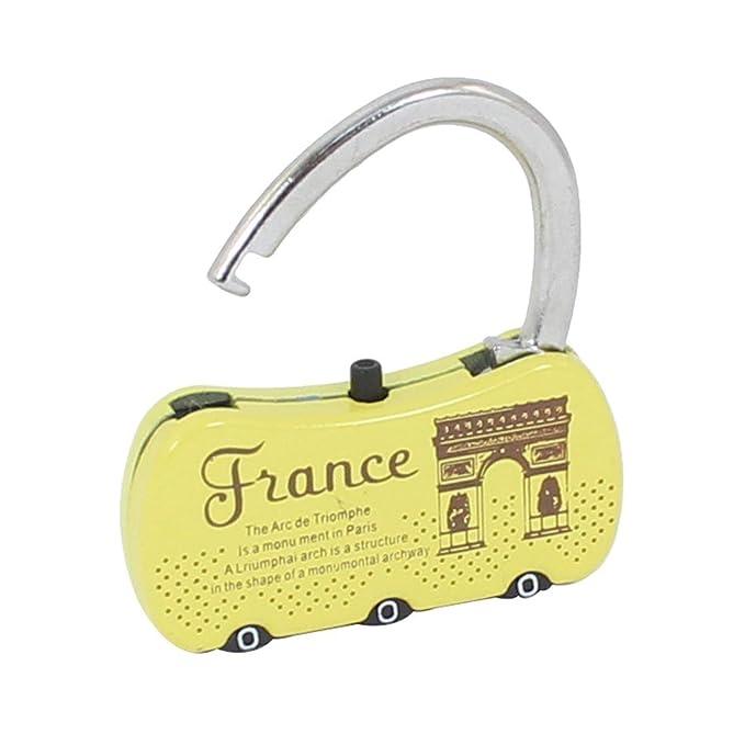 Código eDealMax maleta de equipaje bolso de la forma combinación de 3 dígitos de bloqueo candado - - Amazon.com