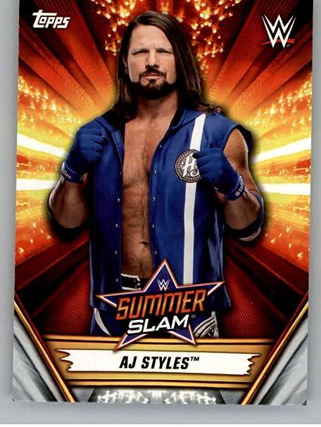 DIGITAL CARD Topps SLAM WWE AJ Styles GOLD SUMMERSLAM 19 BUNDLE EXCLUSIVE