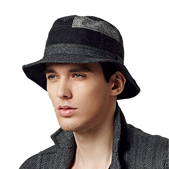Kenmont Autumn Winter Men Male Wool Bucket Hat Outdoor Fisherman Hunting Cap  at Amazon Men s Clothing store  a89774cfcca
